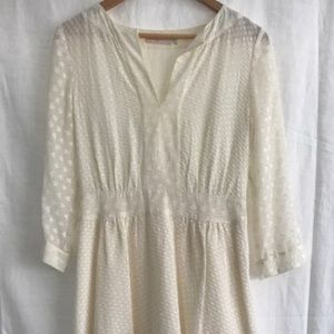 Tory Burch White Swiss Dot dress